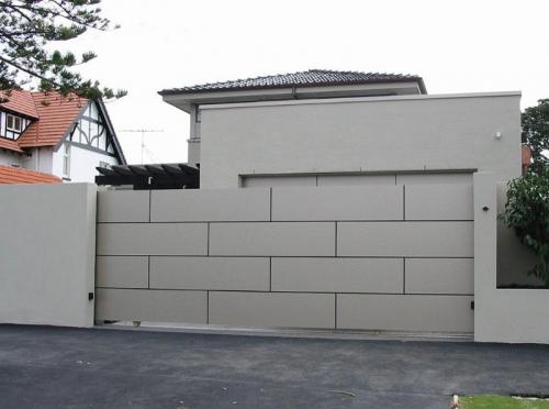 CD19 - Aluminium Composite Gate to Match Garage Door and Pedestrian Gate